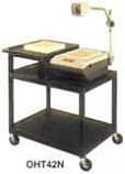 Endura Overhead Projector Trolley with Audio Visual Higher Shelf