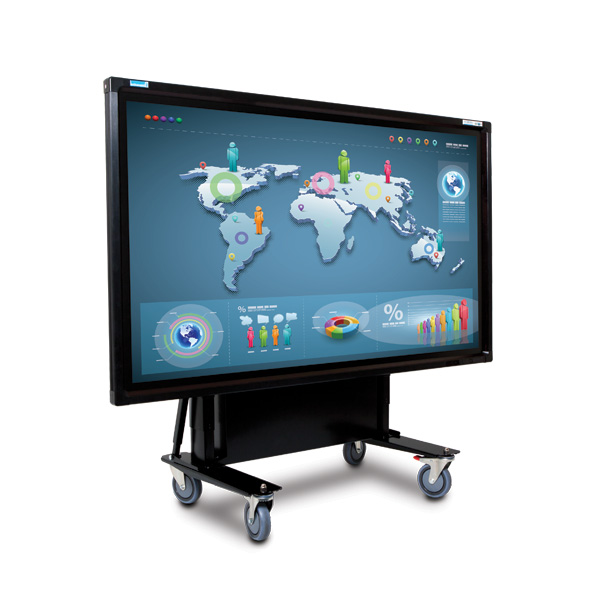 55 Inch Mobi Elite Multi Touch Screen on Tilt Trolley