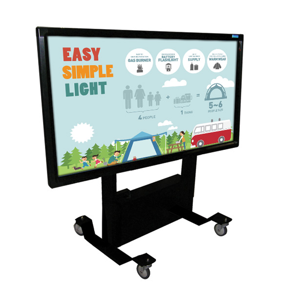 55 Inch Mobi Elite Early Years Multi Touch Screen on Tilt Trolley