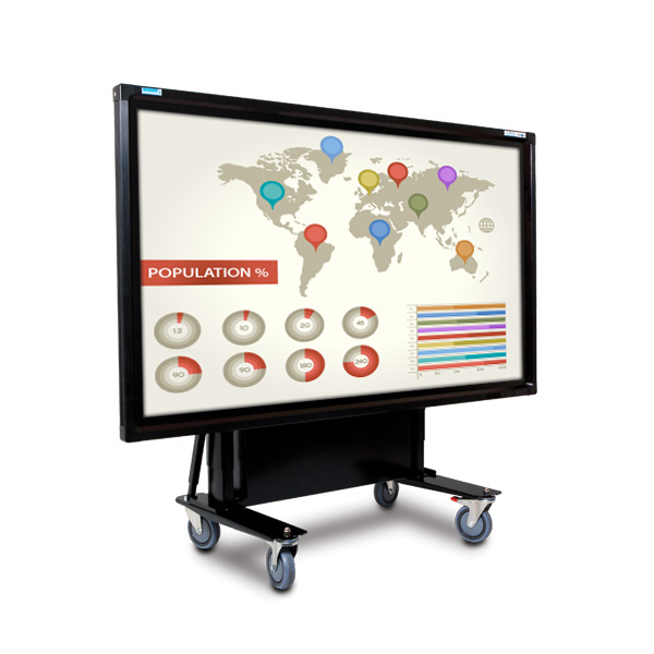 65 Inch Mobi Elite Multi Touch Screen on Tilt Trolley