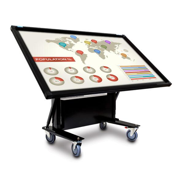 65 Inch Mobi Elite Multi Touch Screen on Tilt Trolley