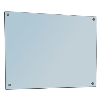 1200 x 900 SilverScreen Glass Whiteboard with Fittings