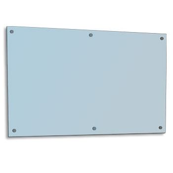 1500 x 1200 SilverScreen Glass Whiteboard with Fittings