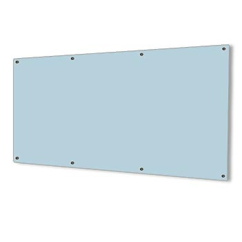 2400 x 1200 SilverScreen Glass Whiteboard with Fittings