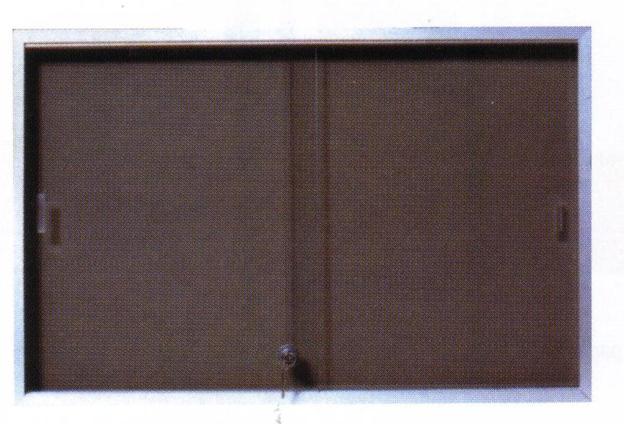 Lockable Sliding Glass Door Pinboards